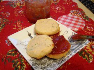 rosemary cookies with tomato jam 037